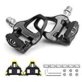 AIHANCH Bike Pedals Bike Road Pedals Lightweight Bicycle Platform Pedals Carbon Cycling Road Bike Pedals with Bike Cleats for Shimano SPD-SL System