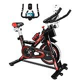 Naspaluro Exercise Bike, Stationary Bikes for Exercise & fitness Home Gyms,Peloton Spin Bike with Adjustable Seat&Handlebar/Phone Holder/Heart Moniter/LCD Monitor