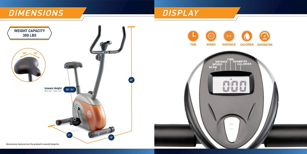 Marcy Upright Bike with Resistance ME-708