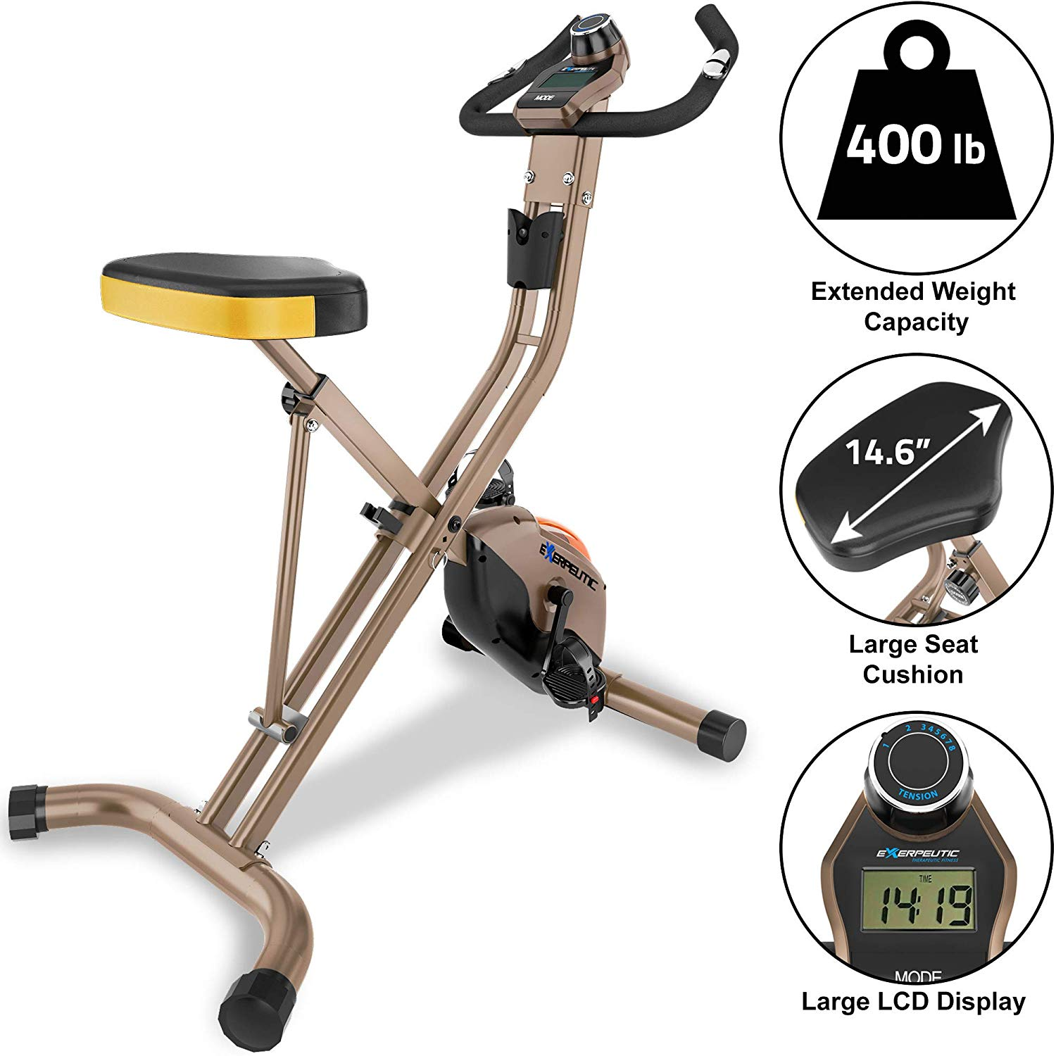 Inexpensive Exercise Bikes - Exerpeutic GOLD 500 XLS