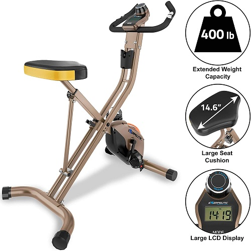 Exerpeutic Gold 500 XLS Foldable Magnetic Upright Bike