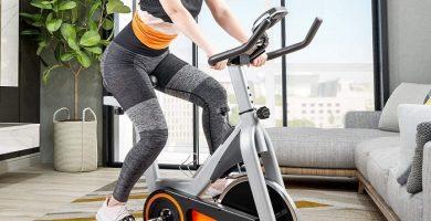 merax spin bike - merax indoor cycling exercise bike cycle trainer adjustable stationary bike