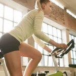 cycling on a stationary bike